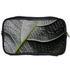 Leaf Detail Macro Of A Leaf Toiletries Bags 2 Side by Nexatart