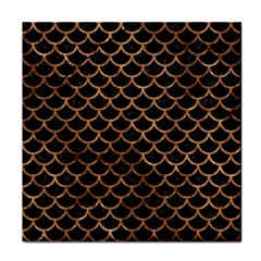 Scales1 Black Marble & Brown Stone Tile Coaster by trendistuff