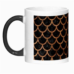 Scales1 Black Marble & Brown Stone Morph Mug by trendistuff