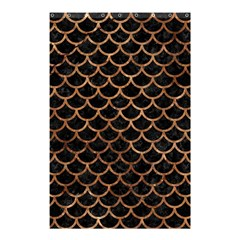 Scales1 Black Marble & Brown Stone Shower Curtain 48  X 72  (small) by trendistuff
