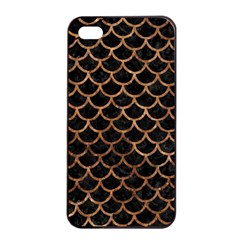 Scales1 Black Marble & Brown Stone Apple Iphone 4/4s Seamless Case (black) by trendistuff