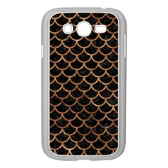 Scales1 Black Marble & Brown Stone Samsung Galaxy Grand Duos I9082 Case (white) by trendistuff