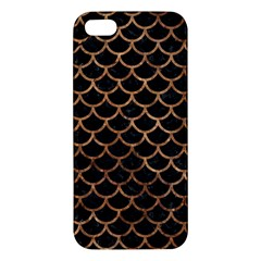 Scales1 Black Marble & Brown Stone Iphone 5s/ Se Premium Hardshell Case by trendistuff