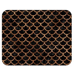 Scales1 Black Marble & Brown Stone Double Sided Flano Blanket (medium)