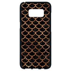 Scales1 Black Marble & Brown Stone Samsung Galaxy S8 Black Seamless Case by trendistuff
