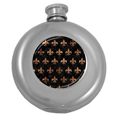 Royal1 Black Marble & Brown Stone (r) Hip Flask (5 Oz) by trendistuff