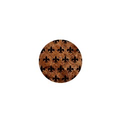 Royal1 Black Marble & Brown Stone 1  Mini Button by trendistuff