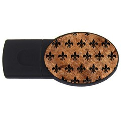 Royal1 Black Marble & Brown Stone Usb Flash Drive Oval (2 Gb) by trendistuff