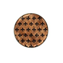Royal1 Black Marble & Brown Stone Hat Clip Ball Marker (4 Pack) by trendistuff