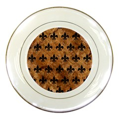 Royal1 Black Marble & Brown Stone Porcelain Plate by trendistuff