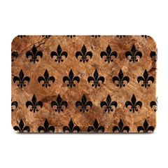 Royal1 Black Marble & Brown Stone Plate Mat by trendistuff