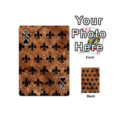 Royal1 Black Marble & Brown Stone Playing Cards 54 (mini) by trendistuff