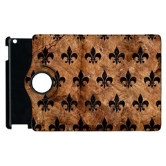 Royal1 Black Marble & Brown Stone Apple Ipad 3/4 Flip 360 Case by trendistuff