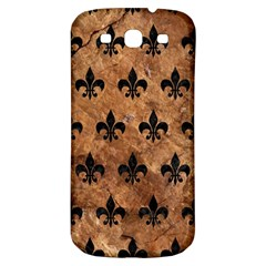 Royal1 Black Marble & Brown Stone Samsung Galaxy S3 S Iii Classic Hardshell Back Case by trendistuff
