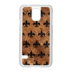 Royal1 Black Marble & Brown Stone Samsung Galaxy S5 Case (white) by trendistuff