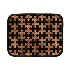 Puzzle1 Black Marble & Brown Stone Netbook Case (small) by trendistuff