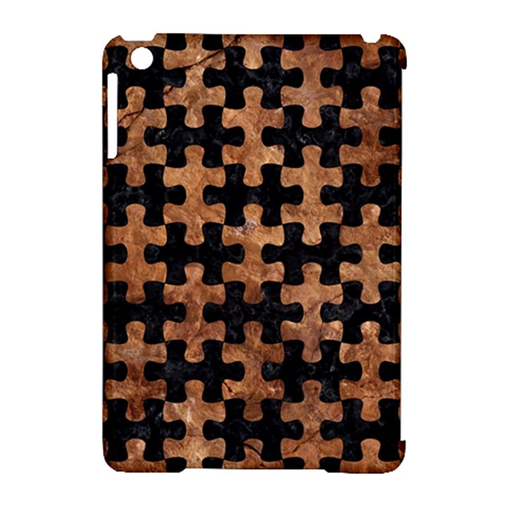 PUZZLE1 BLACK MARBLE & BROWN STONE Apple iPad Mini Hardshell Case (Compatible with Smart Cover)