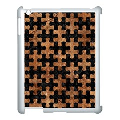 Puzzle1 Black Marble & Brown Stone Apple Ipad 3/4 Case (white) by trendistuff