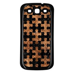 Puzzle1 Black Marble & Brown Stone Samsung Galaxy S3 Back Case (black) by trendistuff