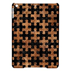 Puzzle1 Black Marble & Brown Stone Apple Ipad Air Hardshell Case by trendistuff