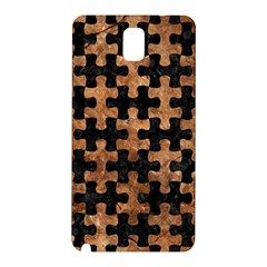 Puzzle1 Black Marble & Brown Stone Samsung Galaxy Note 3 N9005 Hardshell Back Case by trendistuff