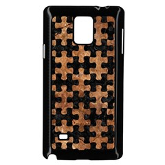 Puzzle1 Black Marble & Brown Stone Samsung Galaxy Note 4 Case (black) by trendistuff