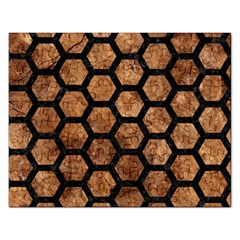 Hexagon2 Black Marble & Brown Stone (r) Jigsaw Puzzle (rectangular) by trendistuff