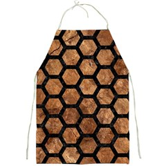Hexagon2 Black Marble & Brown Stone (r) Full Print Apron by trendistuff