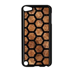 Hexagon2 Black Marble & Brown Stone (r) Apple Ipod Touch 5 Case (black)