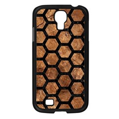 Hexagon2 Black Marble & Brown Stone (r) Samsung Galaxy S4 I9500/ I9505 Case (black) by trendistuff