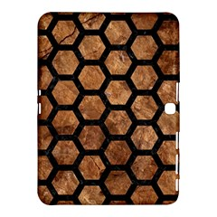 Hexagon2 Black Marble & Brown Stone (r) Samsung Galaxy Tab 4 (10 1 ) Hardshell Case  by trendistuff