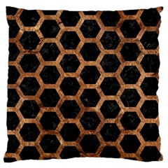 Hexagon2 Black Marble & Brown Stone Standard Flano Cushion Case (two Sides) by trendistuff