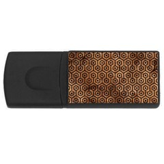 Hexagon1 Black Marble & Brown Stone (r) Usb Flash Drive Rectangular (4 Gb) by trendistuff