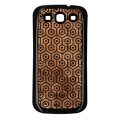 Hexagon1 Black Marble & Brown Stone (r) Samsung Galaxy S3 Back Case (black) by trendistuff