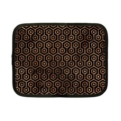 Hexagon1 Black Marble & Brown Stone Netbook Case (small) by trendistuff