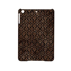 Hexagon1 Black Marble & Brown Stone Apple Ipad Mini 2 Hardshell Case by trendistuff