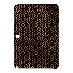 Hexagon1 Black Marble & Brown Stone Samsung Galaxy Tab Pro 10 1 Hardshell Case by trendistuff