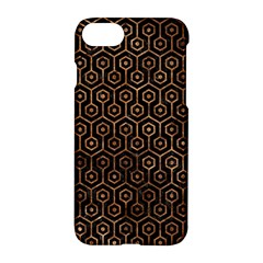 Hexagon1 Black Marble & Brown Stone Apple Iphone 7 Hardshell Case by trendistuff