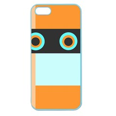 Orange, Aqua, Black Spots And Stripes Apple Seamless Iphone 5 Case (color) by digitaldivadesigns