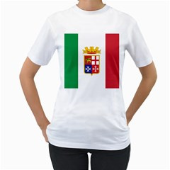 Naval Ensign Of Italy Women s T-shirt (white) (two Sided) by abbeyz71