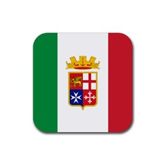 Naval Ensign Of Italy Rubber Coaster (square)  by abbeyz71