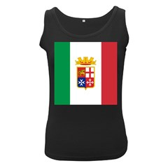 Naval Ensign Of Italy Women s Black Tank Top by abbeyz71