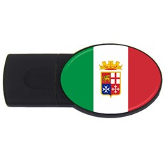 Naval Ensign Of Italy Usb Flash Drive Oval (4 Gb) by abbeyz71