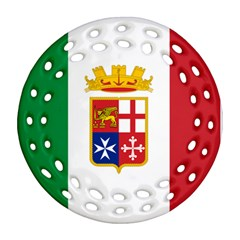 Naval Ensign Of Italy Ornament (round Filigree) by abbeyz71