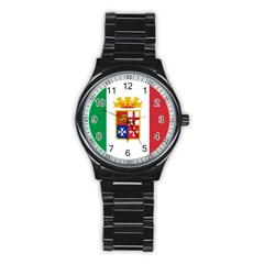 Naval Ensign Of Italy Stainless Steel Round Watch by abbeyz71