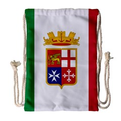 Naval Ensign Of Italy Drawstring Bag (large) by abbeyz71