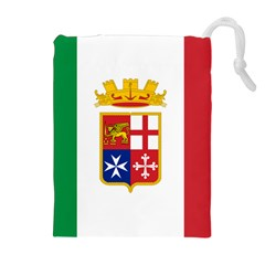 Naval Ensign Of Italy Drawstring Pouches (extra Large) by abbeyz71