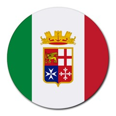 Naval Ensign Of Italy Round Mousepads by abbeyz71