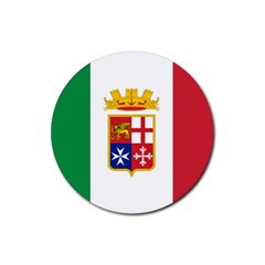 Naval Ensign Of Italy Rubber Round Coaster (4 Pack)  by abbeyz71