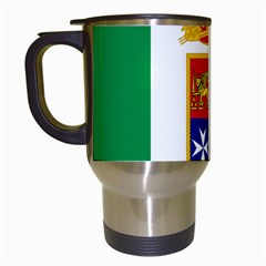 Naval Ensign Of Italy Travel Mugs (white) by abbeyz71
